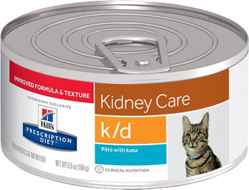 "Hill's Prescription Diet k/d with Tuna pate 5.5 oz Canned Cat Food (formerly ""Hill's Prescription Diet k/d with Ocean Fish"")"