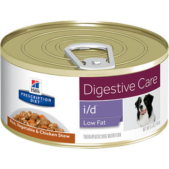 Hill's Prescription Diet Digestive Care i/d Low Fat Rice, Veg. & Chicken Stew Canine (24/5.5 oz Cans)