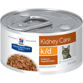 Kidney Care k/d Chicken & Vegetable Stew Wet Cat Food (24/2.9 oz Cans)