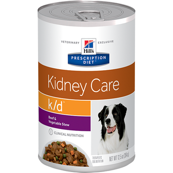 Kidney Care k/d Beef & Vegetable Stew Wet Dog Food (12/12.5 oz Cans)