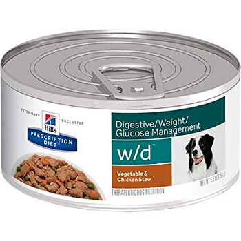 Hill's Prescription Diets Digestive/Weight/Glucose w/d Vegetable & Chicken Stew Wet Dog Food (24/5.5 oz Cans)