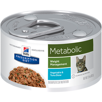 Hill's Prescription Diet Metabolic Vegetable & Tuna Stew Feline (24/2.9 oz Cans)