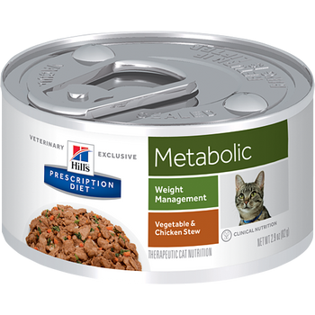 Metabolic Vegetable & Chicken Stew Wet Cat Food (24/2.9 oz Cans)