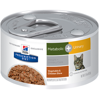 Hill's Prescription Diet Metabolic + Urinary Care Canned Cat Food (24/2.9 oz Cans)