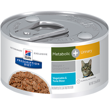 Hill's Prescription Diet Metabolic + Urinary Care Veg. & Tuna Stew Feline (24/2.9 oz Cans)