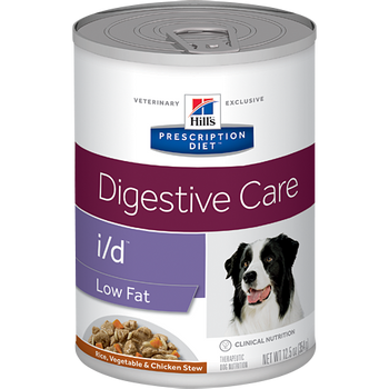 Hill's Prescription Diet Digestive Care i/d Low Fat Rice, Vegetable and Chicken Stew Canine (12/12.5 oz Cans)