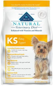 Blue Natural Veterinary Diets KS Kidney Support Dry Dog Food (6 lb)