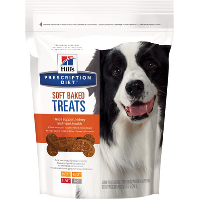 Hill's Prescription Diets Canine Soft Baked Treats (Case of 6/12 oz Pouches)