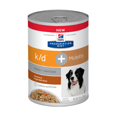 Hills Kidney & Joint Care k/d + Mobility Canned Dog Food (12/12.5 oz cans)