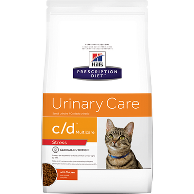Hills Urinary Care c/d Stress Dry Cat Food (4 lb)