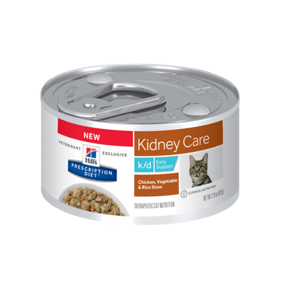 Hills Feline k/d Early Support Chicken & Vegetable Stew (24/2.9oz Cans)