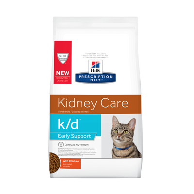Hills Feline k/d Early Support Chicken Dry Cat Food (4 lb)