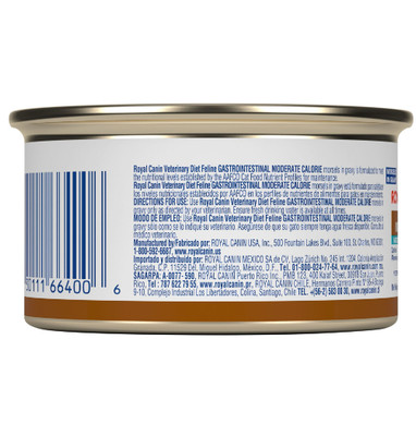 Royal Canin Veterinary Diet Gastrointestinal Moderate Cal. Canned Cat Food (24/3 oz Cans)