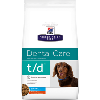 Hill's Prescription Diet Dental Care t/d Small Bites Dry Dog Food (5 lb)