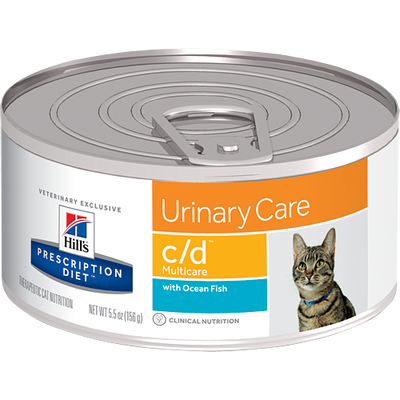 Hill's Prescription Diet Urinary Care c/d Ocean Fish Canned Cat Food (24/5.5 oz Cans)