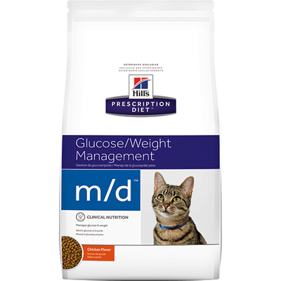 Glucose/Weight Management m/d Dry Cat Food (4 lb)