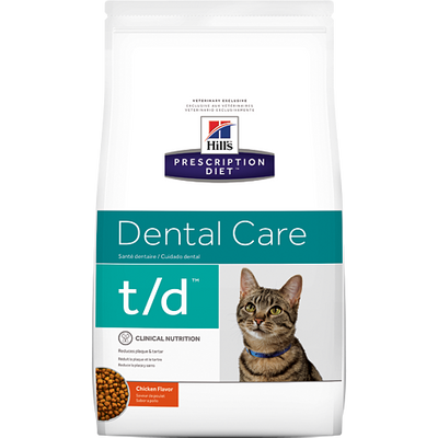 Hill's Prescription Diet Dental Care t/d  Chicken Flavor Dry Cat Food (8.5 lb)
