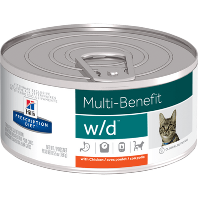 Hill's Prescription Diet Digestive/Weight Management w/d Canned Cat Food (24/5.5 oz Cans)