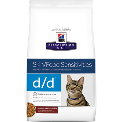 Skin/Food Sensitivites d/d Venison & Green Pea Dry Cat Food (8.5 lb. Dry)