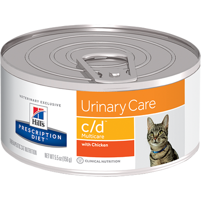 Urinary Care c/d with Chicken Wet Cat Food (24/5.5 oz Cans)