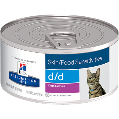 Skin/Food Sensitivity d/d Duck Formula Wet Cat Food (24/5.5 oz Cans)