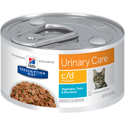 Hill's Prescription Diet Urinary Care c/d Vegetable Tuna & Rice Canned Cat Food (24/2.9 oz Cans)