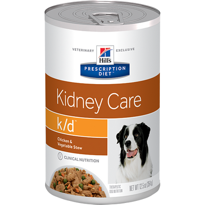 Kidney Care k/d Chicken & Vegetable Stew Wet Dog Food (12/12.5 oz Cans)