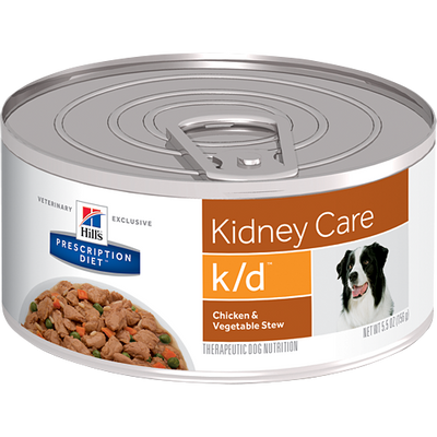 Kidney Care k/d Chicken & Vegetable Stew Wet Dog Food (24/5.5 oz Cans)