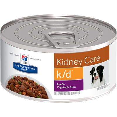 Kidney Care k/d Beef & Vegetable Stew Wet Dog Food (24/5.5 oz Cans)