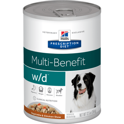 Hill's Prescription Diets Digestive/Weight/Glucose w/d Vegetable & Chicken Stew Wet Dog Food (12/12.5 oz Cans)