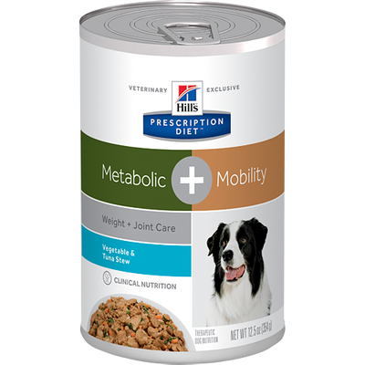Metabolic + Mobility Veg. & Tuna Stew Wet Dog Food (12/12.5 oz Cans)