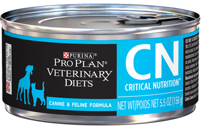 Purina Pro Plan Veterinary Diets Critical Nutrition CN Canned Food for Dogs and Cats (24/5.5 oz Cans)