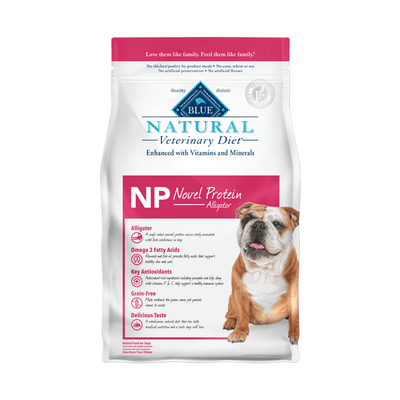 BLUE Natural NP Novel Protein Alligator Dry Dog Food 6 lb