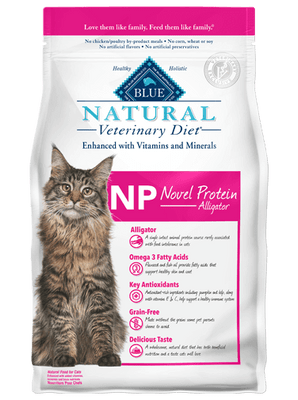 BLUE Natural NP Novel Protein Alligator Dry Cat Food 7 lb