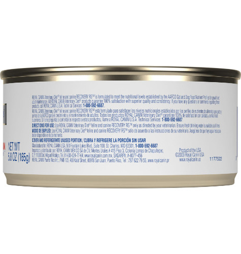 Royal Canin Veterinary Diet Feline & Canine Recovery RS Canned (24/5.8 oz Cans) Side 1