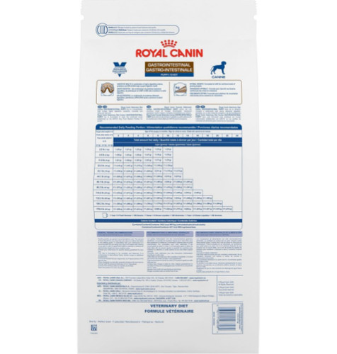 Royal Canin Veterinary Diets Gastrointestinal Puppy Dry Dog Food (8.8 lb) Back