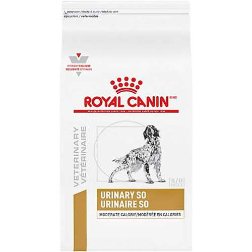 Royal Canin Veterinary Diet Urinary SO Moderate Calorie Dry Dog Food (7.7 lb)