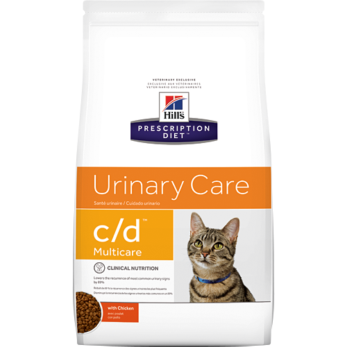 Hill's Prescription Diet Urinary Care c/d with Chicken Dry Cat Food (4 lb)