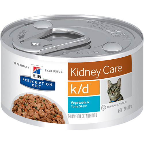 Hill's Prescription Diet Kidney Care k/d Vegetable & Tuna Stew Cat Food (24/2.9 oz Cans)