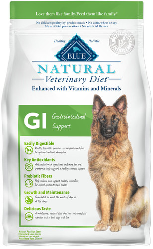 Blue Natural Veterinary Diet GI Gastrointestinal Support Dry Dog Food (6 lb)