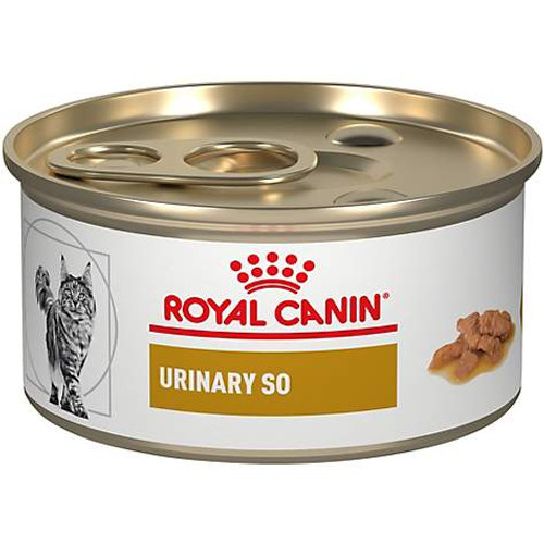 Royal Canin Veterinary Diet Urinary SO Morsels in Gravy Canned Cat Food (24/3 oz Cans)