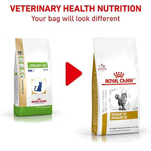 Royal Canin Veterinary Diet Urinary SO Dry Cat Food (7.7 lb) New Packaging