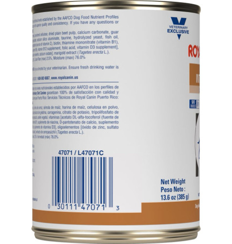 Royal Canin Veterinary Diet Gastrointestinal Low Fat Canned Dog Food (24/13.5 oz Cans)