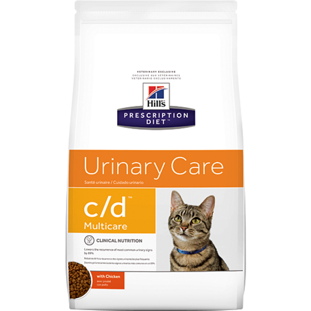 Urinary Care c/d with Chicken Dry Cat Food (17.6 lb)