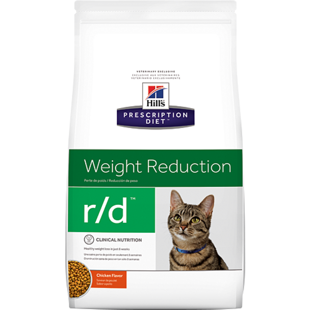 Weight Reduction r/d Chicken Flavor Dry Cat Food (17.6 lb)