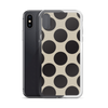 Black and Tan Dots iPhone Case