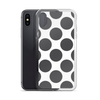 Grey Dots on White iPhone Case