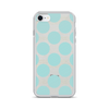 Blue Dots on Tan Lines iPhone Case