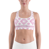 Pink Aztec Sports bra