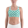 Tiffany Blue with White Polka Dots Sports bra